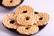 Murukku is a savoury snack popular in South India.