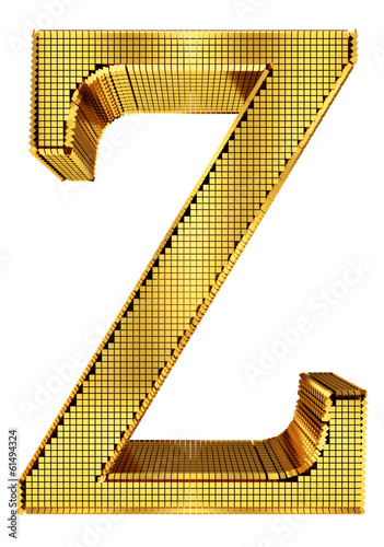 Rich Golden Cube Alphabet - Z