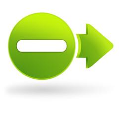 moins sur symbole web vert
