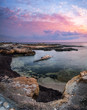 Bay in the Mediterranean Sea in the Morning