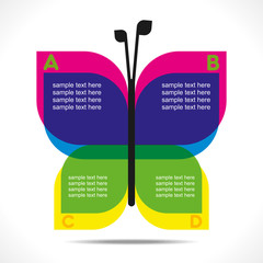 butterfly info-graphics concept vector