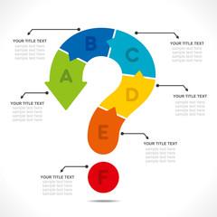 question mark info-graphics concept vector