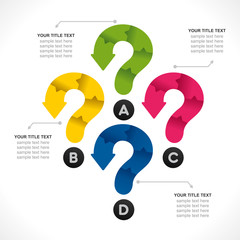 creative question mark info-graphics concept vector