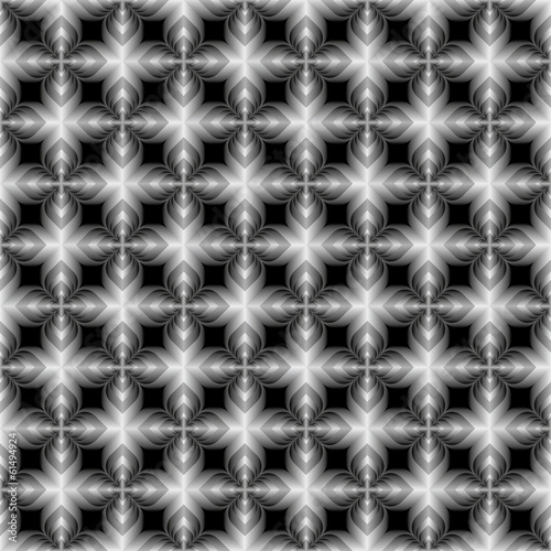 creative black and white flower design pattern background vector