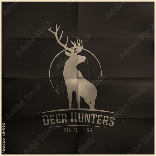 Deer buck on fool moon badge