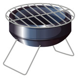 A barbeque grilling stove