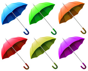 A group of umbrellas