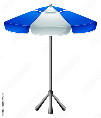 A big beach umbrella
