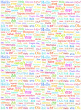 The word Hello written with in different world languages