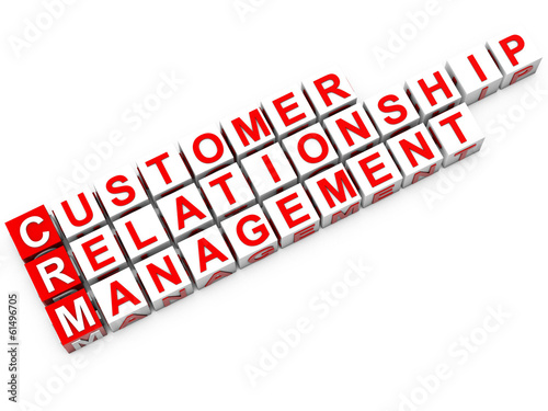 CRM Customer Relationship Management over white background