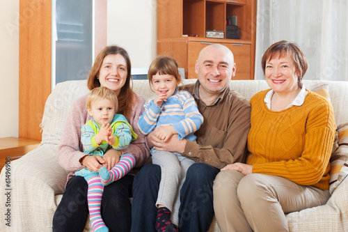 Portrait of happy family