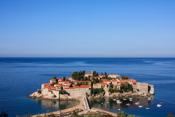 The island resort of Sveti Stefan, Montenegro