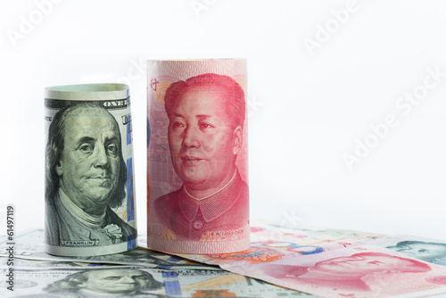 US dollar versus China Yuan