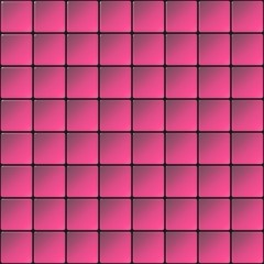 Glass tiles mosaic with gradient pink color