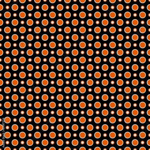 Orange rounds mosaic