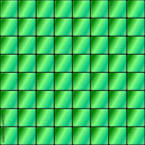 Glass tiles mosaic with gradient green color