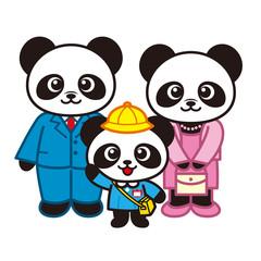 パンダ家族の入園式