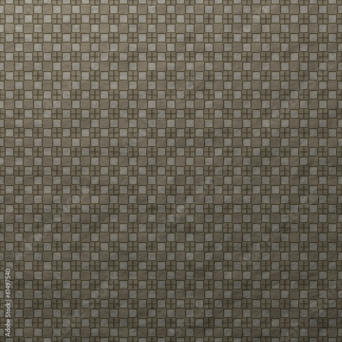 Printed gray crumpled paper with cross and square