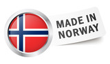 "Button mit Fahne "" MADE IN NORWAY """