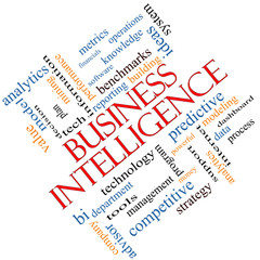 Business Intelligence Word Cloud Concept Angled