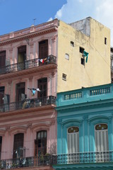 Colonial buildings in Cuba