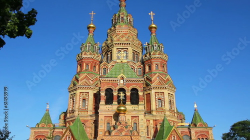 Church of Holy Apostles Peter and Paul in Peterhof Saint-Petersb