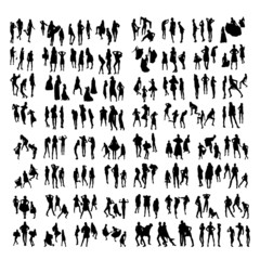 Two hundred Fashion Model Silhouettes. Part 2.