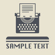 Typewriter icon or sign, vector illustration