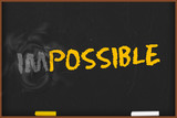 blackboard - motivation im-possible concept - e528