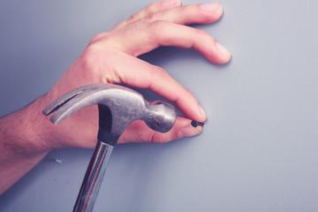 Hand hamering