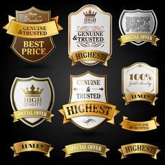 emblems gold and silver badges for seller