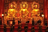 three big golden buddha in chinese style