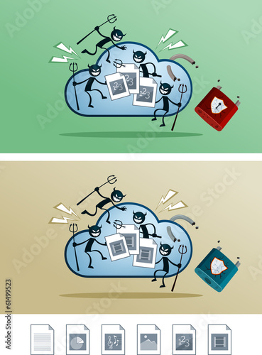 file in the cloud storage damaged by computer virus