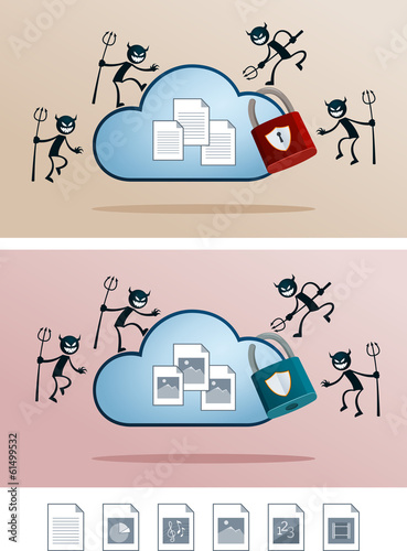 file in the cloud storage attacked by computer virus