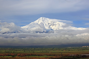 Ararat mountains - view from Armenia side