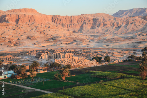 Aerial view of valley of the kings in luxor egypt