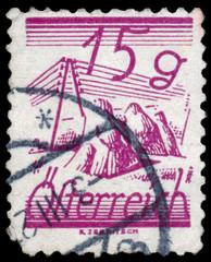 AUSTRIA - CIRCA 1925: A stamp printed in Austria, is depicted Fi