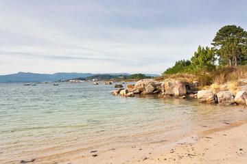 Espineiro beach on Arousa Island