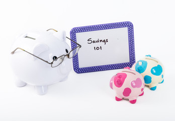 Teaching how to save money