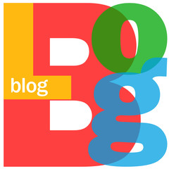 """BLOG"" Letter Collage (social media news website web internet)"