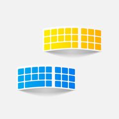 realistic design element: keyboard
