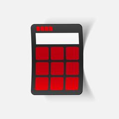 realistic design element: calculator