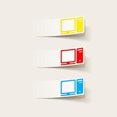 realistic design element: computer