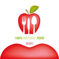 Menu mela rossa