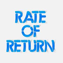 realistic design element: rate of return