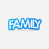 realistic design element:family