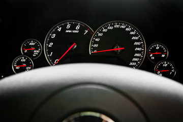Speedometer race car
