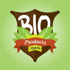 100% bio products badge