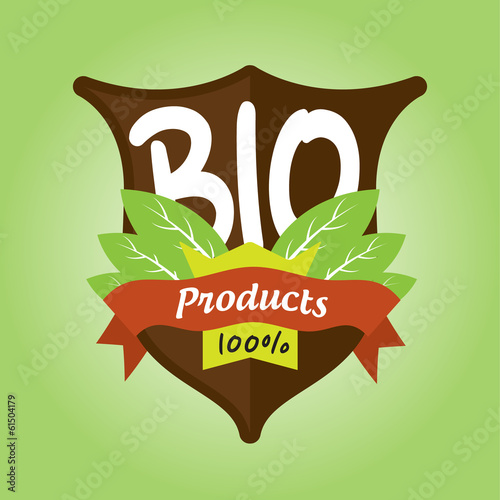 100% bio products badge
