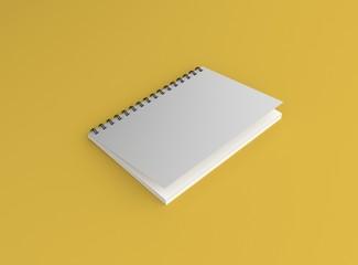 Notizblock Halb offen Hintergrund gelb